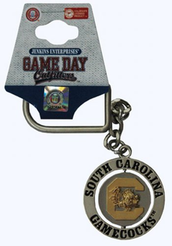 NCAA South Carolina Gamecocks Keychain Relief Spinner