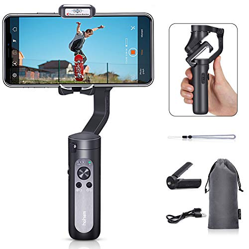 Hohem iSteady X – 3-Axis 259g Lightweight Smartphone Gimbal Foldable Handheld Pocket Stabilizer Youtuber Vlogger Live Video for iPhone 11 Pro Max X XS, Android