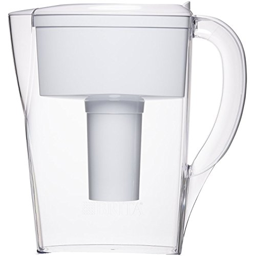 Brita Small 6 Cup Space Saver Water Pitcher with Filter - BPA Free - White