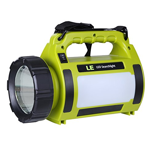 LE® 10W Rechargeable LED Spotlight, CREE T6, LED Searchlight, Portable, Dimmable, 650lm, 3 M