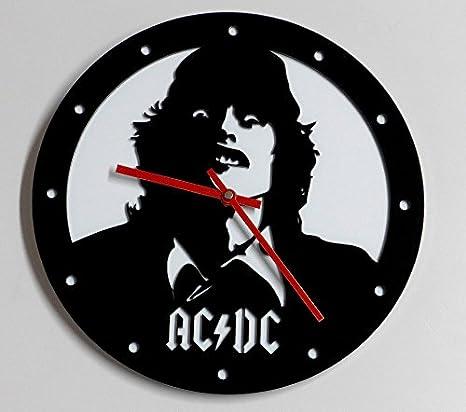 Reloj de pared original AC/DC (Angus) metacrilato, silencioso, moderno: Amazon.es: Hogar