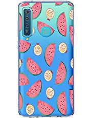 Oihxse Case Transparente Suave TPU Compatible con Samsung Galaxy S10 Plus Funda [Lindo Caricatura Flor Serie Dibujos] Cristal Protector Carcasa Anti Rasguños Bumper Cover-Sandía