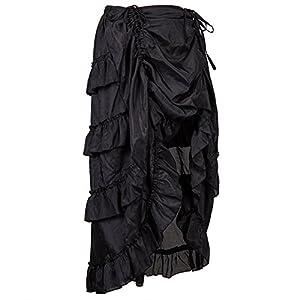 Alex sweet Adjustable Ruffle High Low Gothic Skirt Plus Size Steampunk Corset Skirt Long Dress