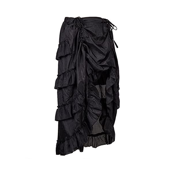 Alex sweet Adjustable Ruffle High Low Gothic Skirt Plus Size Steampunk Corset Skirt Long Dress 4