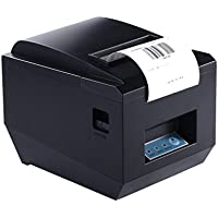 Thermal Receipt Printer, ACEHE 80mm Bluetooth Mini Portable High Speed Direct Thermal Printer, Printing Compatible with ESC / POS Print Commands Set