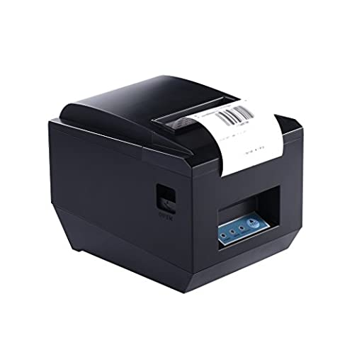 Thermal Receipt Printer, ACEHE 80mm Bluetooth Mini Portable High Speed Direct Thermal Printer, Printing Compatible with ESC / POS Print Commands - 24 Thermal Printer Cutter