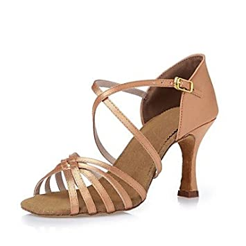Quietness@ zapatos de baile para de satén para mujer tacón para baile 634b50