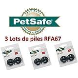 Petsafe -trois lots de piles pour collier anti aboiement