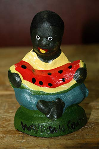 Lotus energy Cast Iron Antique Style Black Boy Eating Watermelon Southern Americana