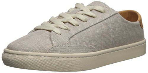 Soludos Women's Ibiza Linen lace up Sneaker, Light Gray, 8 Regular US