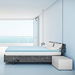 "Best Price Mattress Topper 2.5"" Gel Memory Foam Mattress, King, Blue"