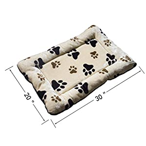 """HUALAN Pet Crate Mattress Dog/Cat Cage Mat Cusion Washable Kennel Pads, 30"""" x 20"""""""