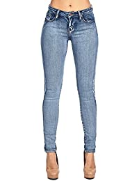 Womens Destroyed Stretch Skinny Jeans