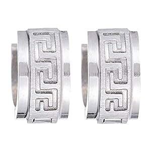 Flying Jewellery Silver Hoop Earrings, Clip Closure