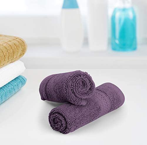 Utopia Towels Premium 252 Pack 700 GSM Cotton Washcloths Bulk– (12 x 12 Inches Face Towels Bulk) Extra Soft Wash Cloths, Plum by Utopia Towels (Image #6)