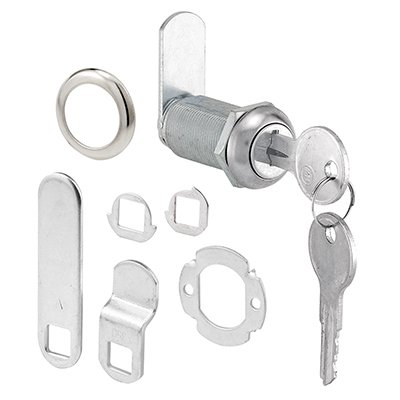 Slide-Co #CCEP 9950KA 1-3/8'' Stainless Steel Draw/Cab Lock