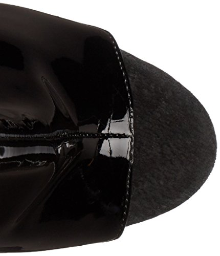 Pleaser - Botas para mujer Negro negro