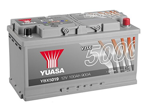Yuasa YBX5019 High Performance Starter Battery, Silver