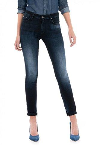 Wonder Pantaloni Effetto Salsa Azzuro Push Jeans Alta Cintura Up CzSxx0wFq