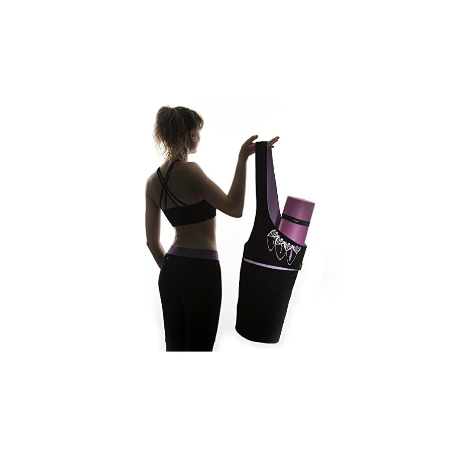 Zenifit Yoga Mat Bag Yoga Mat Carrier with Large Side and Zipper Pockets Fits Most Size Mats Yoga Mat Holder