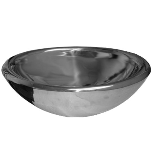 - Whitehaus WHNVE217-MIRR Noah'S Collection 21 1/2-Inch Double Layer Above Mount Vessel Basin, Mirrored Stainless Steel