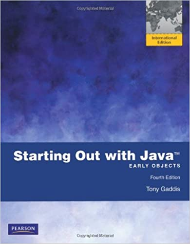 Book Starting Out with Java: Early Objects