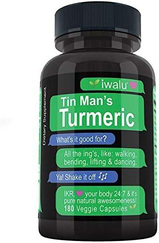 Tumeric Curcumin Supplement Anti Inflammatory Supplement Support Joint Pain Supplements Colon Cleanse Detox Made with Organic Turmeric Curcumin with Bioperine Tumeric with Black Pepper 180 Capsules