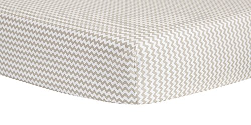 Trend Lab Dove Gray Chevron Crib Sheet