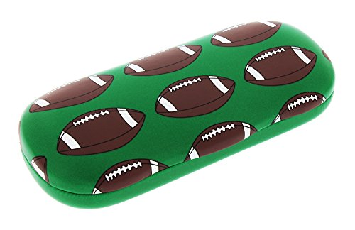 Sports Themed Hard Shell Eyeglass Case For Boys And Girls, Football (American)