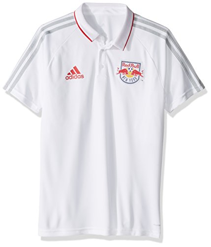 White Sideline Performance Polo - MLS New York Red Bulls Men's Authentic Sideline Coaches Polo, X-Large, White