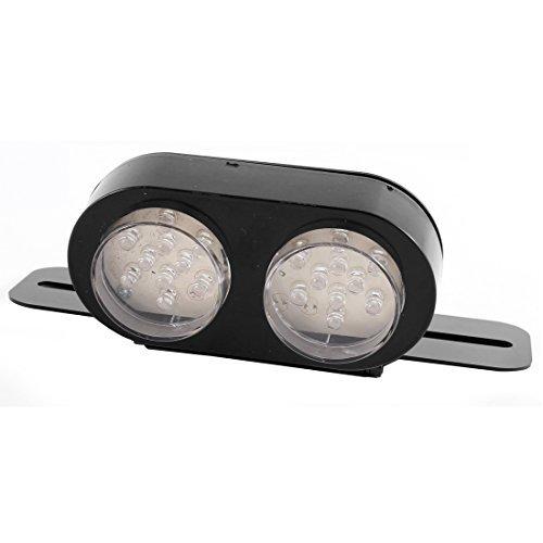 Blanc Rouge eDealMax Moto 20 LED plaque d'immatriculation feu arrire