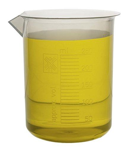 250ml Plastic Beaker; 10ml Graduations; Premium Polypropylene - Eisco Labs