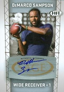 Autograph Warehouse 99603 Demarco Sampson Autographed Football Card San Diego State 2011 Sage Hit Rookie No. A1