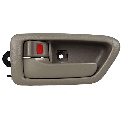 AUTEX 91004/91008 Beige Interior Door Handle Inner Front Left Driver Side Replacement Handle for 1997 1998 1999 2000 2001 Toyota (Brown Interior Door Handle Driver)