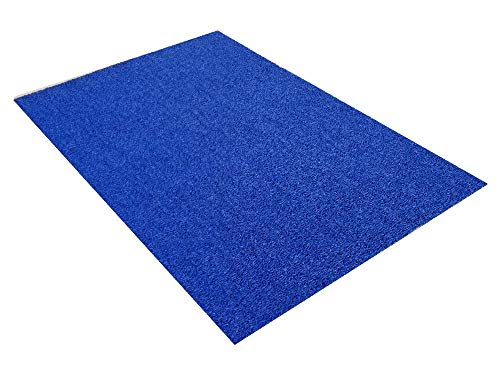 VinLoop Vinyl Pool, Bathroom, Locker Room, Shower, Spaghetti Mat by MattingExperts Drains Water, Comfortable Looped Mat (3x2, Blue) ()