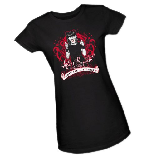 Goth Crime Fighter -- NCIS: Naval Criminal Investigative Service Crop Sleeve Fitted Juniors T-Shirt, X-Large Goth Crime Fighter