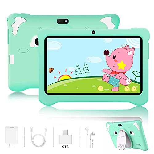 🥇 Tablet para Niños Android 9.0 Pie 3GB RAM y 32GB ROM 7 Pulgadas HD Pantalla Tableta Infantil WiFi Bluetooth Dual Camera 5+2MP Entertainment Education