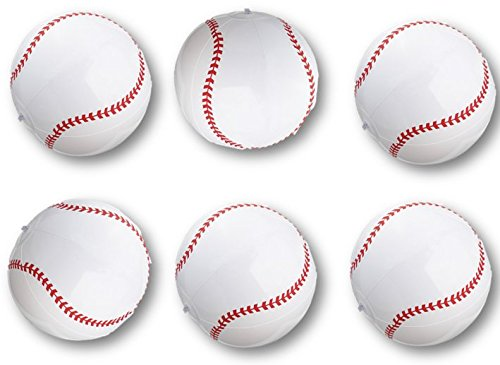 - PlayO Inflatable Baseballs - 16 inch Beach Balls