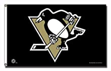 NHL Pittsburgh Penguins 3-Foot by 5-Foot Banner Flag
