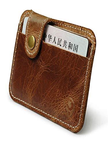 ABASSKY Brown Card Holder Slim Credit Card ID Card Holder Case Bag Wallet Holder