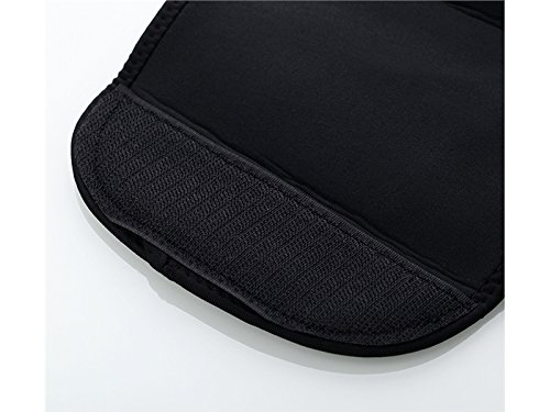 Huasen Sports Safe Guard Waist Trimmer Sweat Belts Adjustable Slimming Belt for Women and Men_Black Cycling Sports
