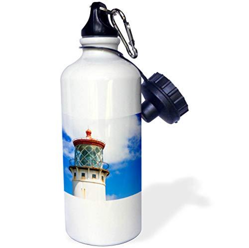 Point Kilauea - 3dRose Danita Delimont - Hawaii - Kilauea Point Lighthouse, Island of Kauai, Hawaii, USA - 21 oz Sports Water Bottle (wb_314811_1)