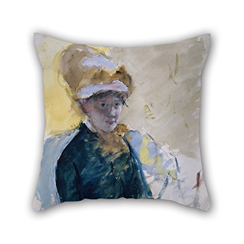 (Oil Painting Mary Stevenson Cassatt - Mary Cassatt Self-Portrait Cushion Covers 18 X 18 Inch / 45 By 45 Cm For Coffee House,club,saloon,chair,sofa,kids Room With Two Sides)