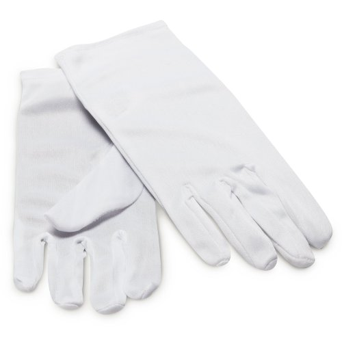 Adult White Wrist Length Gloves