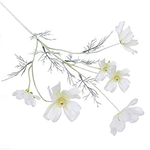 zzJiaCzs Artificial Coreopsis Flower,1Pc Artificial Coreopsis Flower Home Party Fake Cosmos Table Centerpiece Decor - Milky White 31
