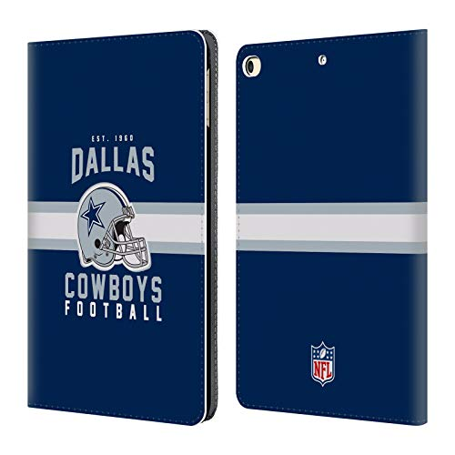 Case Cowboys Dallas Nfl (Official NFL Helmet Typography 2018/19 Dallas Cowboys Logo Leather Book Wallet Case Cover for iPad 9.7 2017 / iPad 9.7 2018)