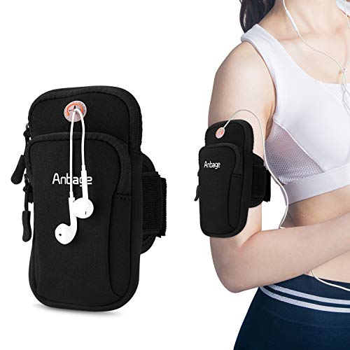 Running Armband Compatible with iPhone X 8 7Plus 6sPlus Galaxy Note 5 4 S8 S7 Edge,Multifunctional Outdoor Sports Armband Sweatproof Armbag Casual Arm Package Bag,PlusKey Holder & Screen Protector