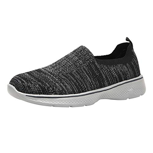 HEETEY Die Segeltuch-Schuhe der Sommer-Männer beiläufige Wilde Breathable Turnschuhe Beleg-Auf Erbsen-Schuhe Laufschuhe Fitness straßenlaufschuhe Sneaker Sportschuhe atmungsaktiv Mode Freizeitschuhe
