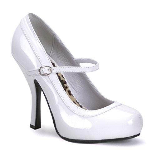 Pleaser Pretty 50, Zapatos de Tacón para Mujer Weiss