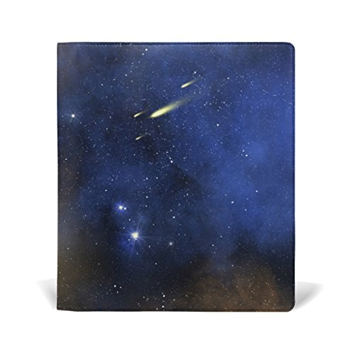 Universe Stretchable Leather Book Covers Standard Size for Student Hardcover Textbooks Fits up to 9x11-Inch for School Girls Boys DIY Gift